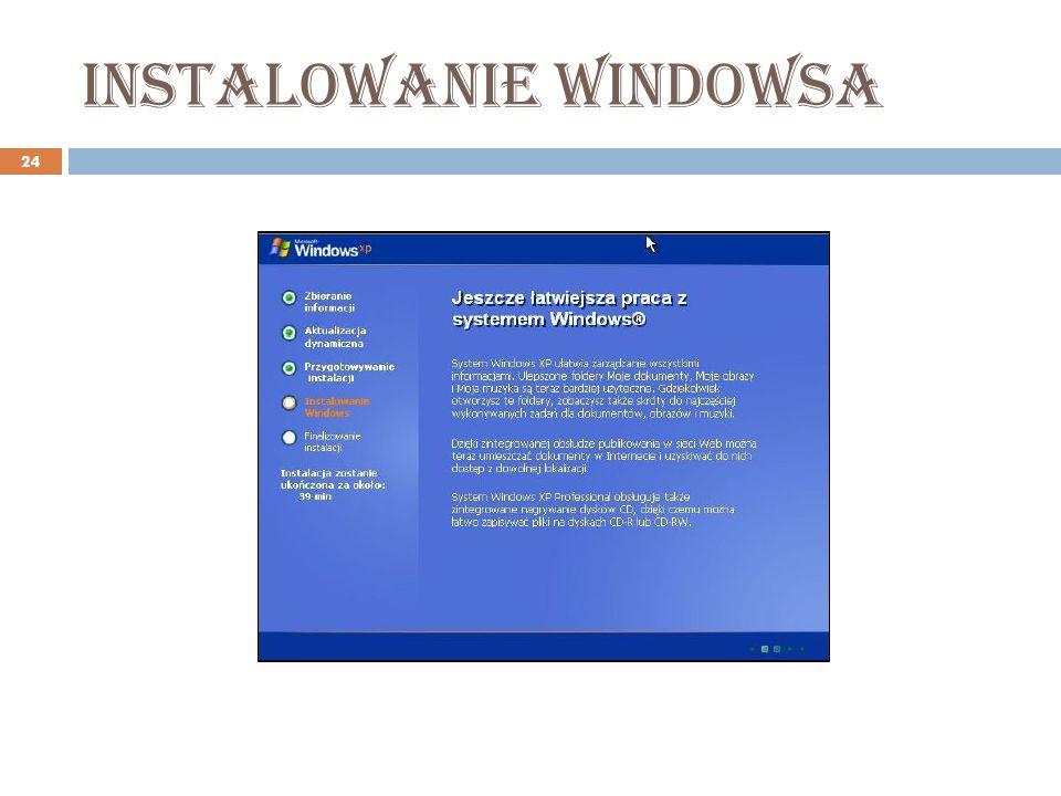 Instalowanie windowsa