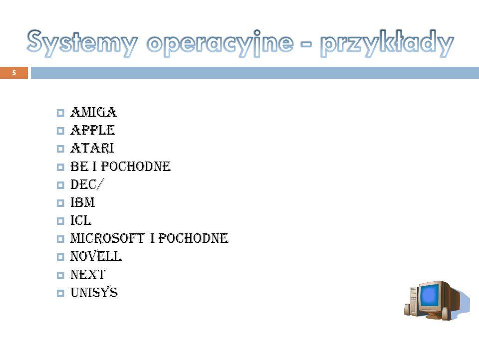 Systemy operacyjne - przykłady