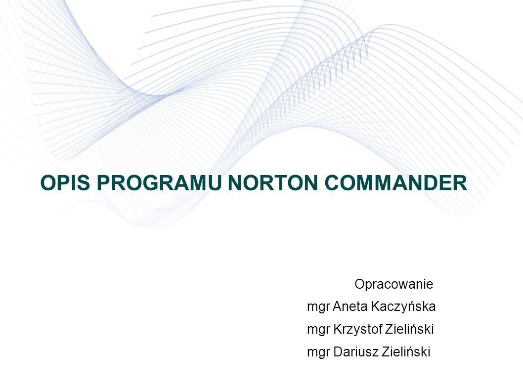 OPIS PROGRAMU NORTON COMMANDER