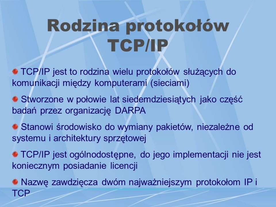 Rodzina protokołów TCP/IP
