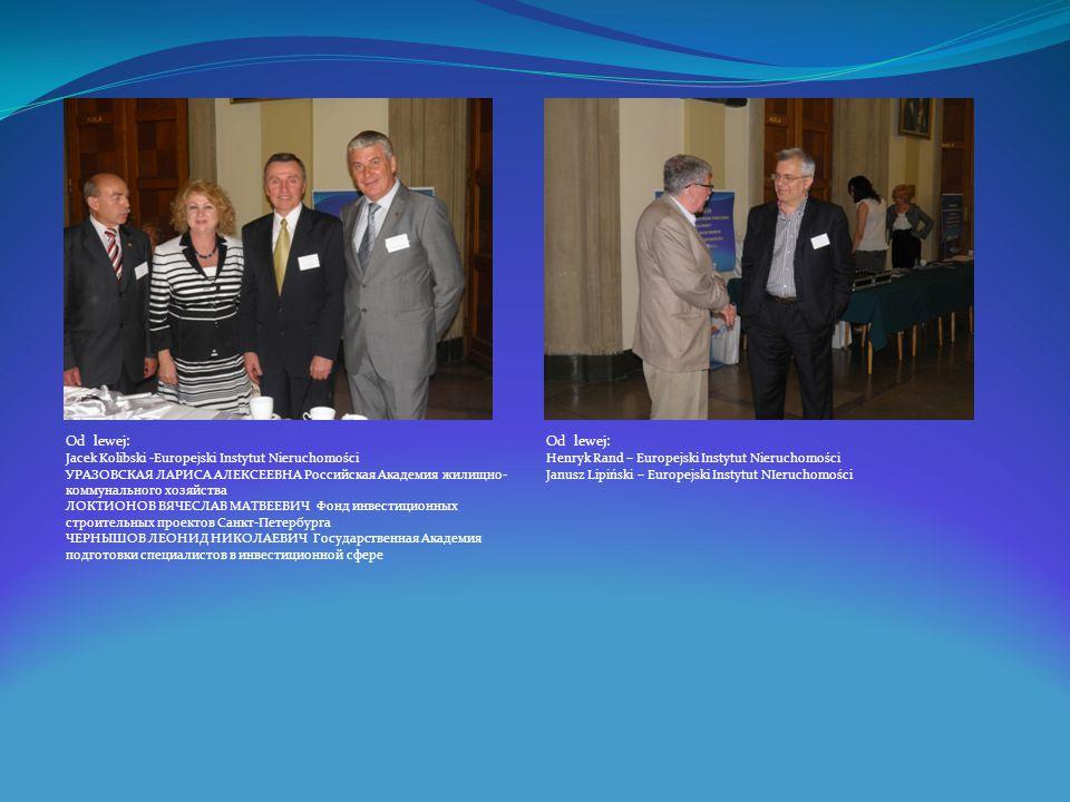 Od lewej: Od lewej: Jacek Kolibski -Europejski Instytut Nieruchomości
