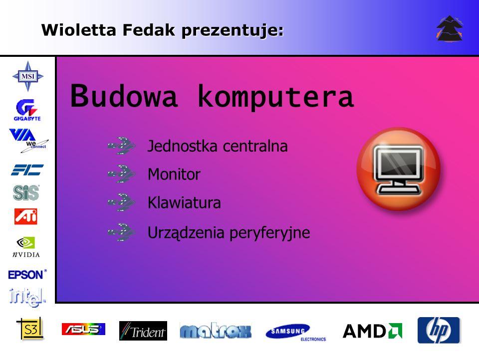 Budowa komputera Wioletta Fedak prezentuje: Jednostka centralna