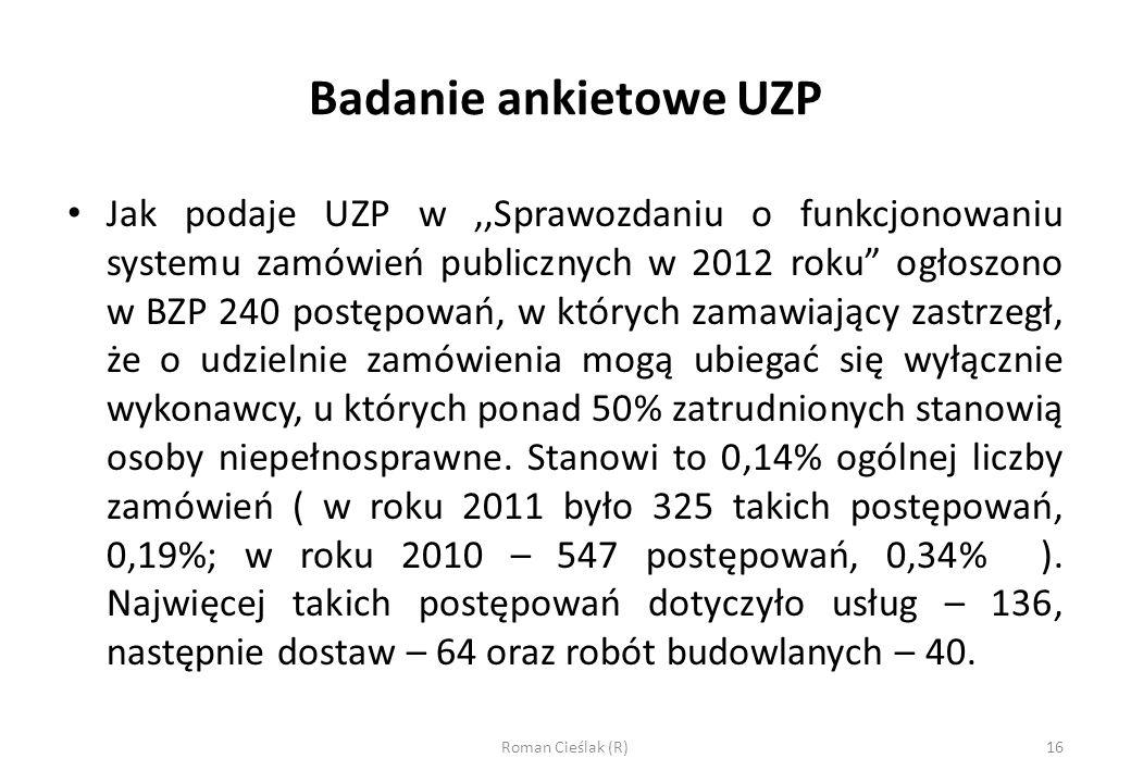 Badanie ankietowe UZP