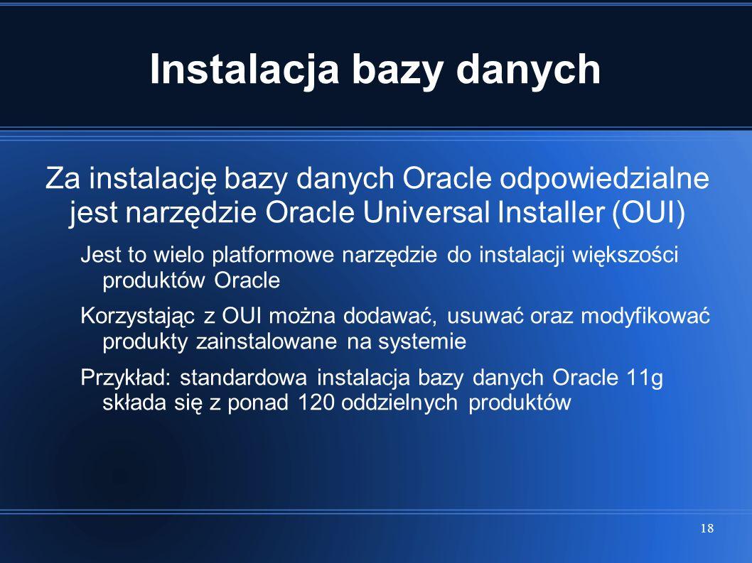 Instalacja bazy danych