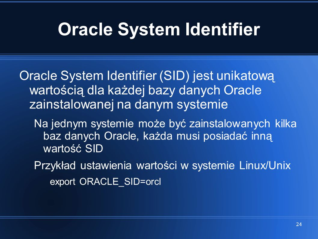 Oracle System Identifier