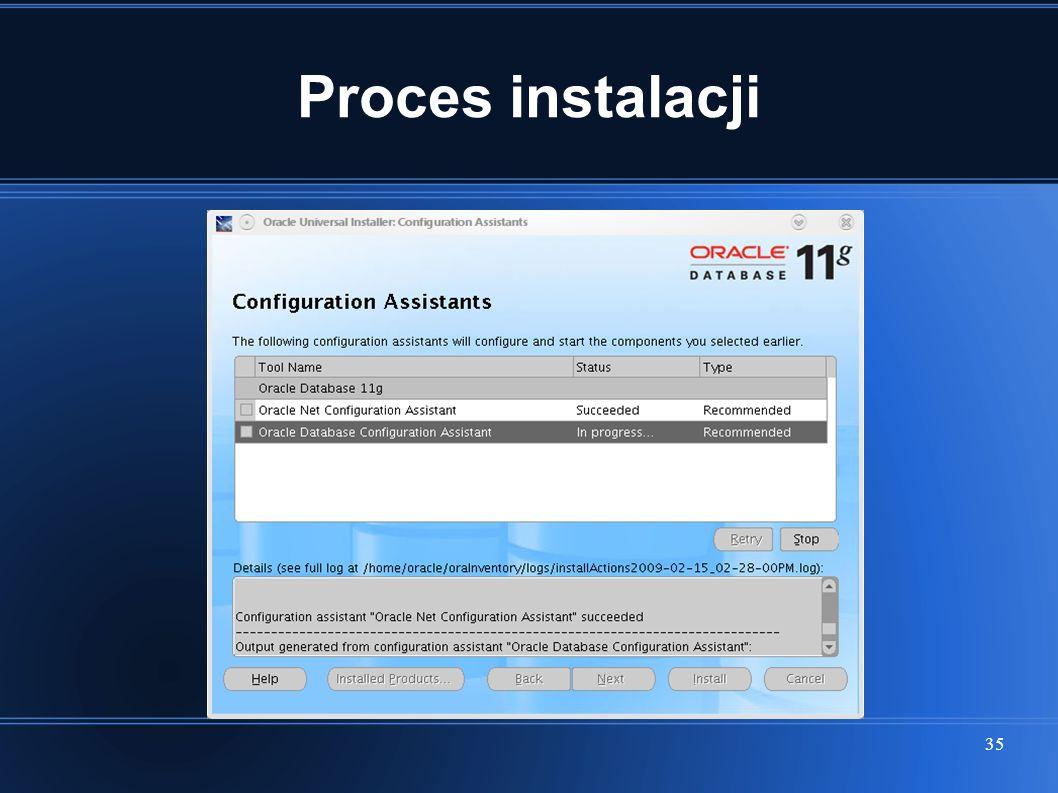 Proces instalacji