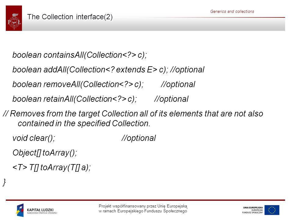 The Collection interface(2)