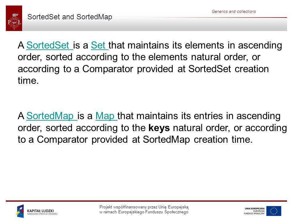 SortedSet and SortedMap