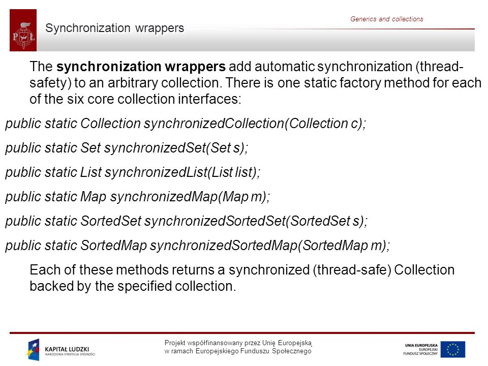 Synchronization wrappers