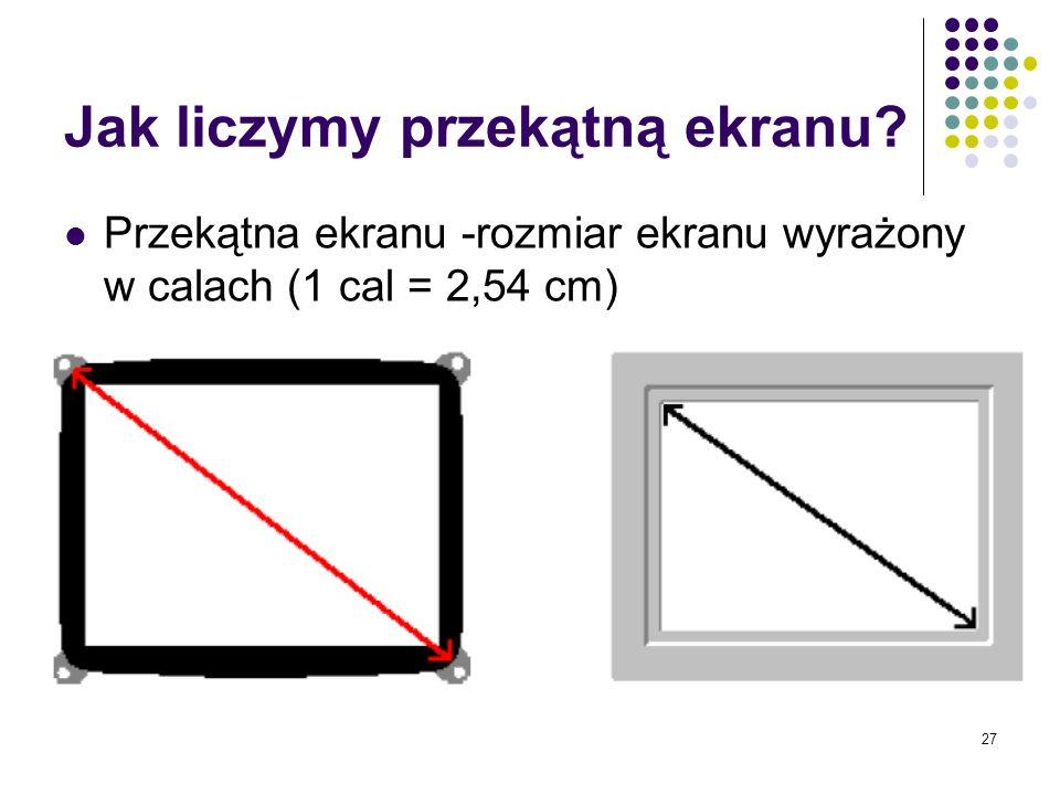 Jak liczymy przekątną ekranu