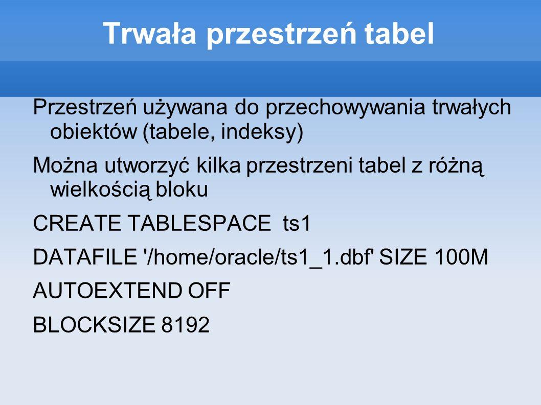 Trwała przestrzeń tabel
