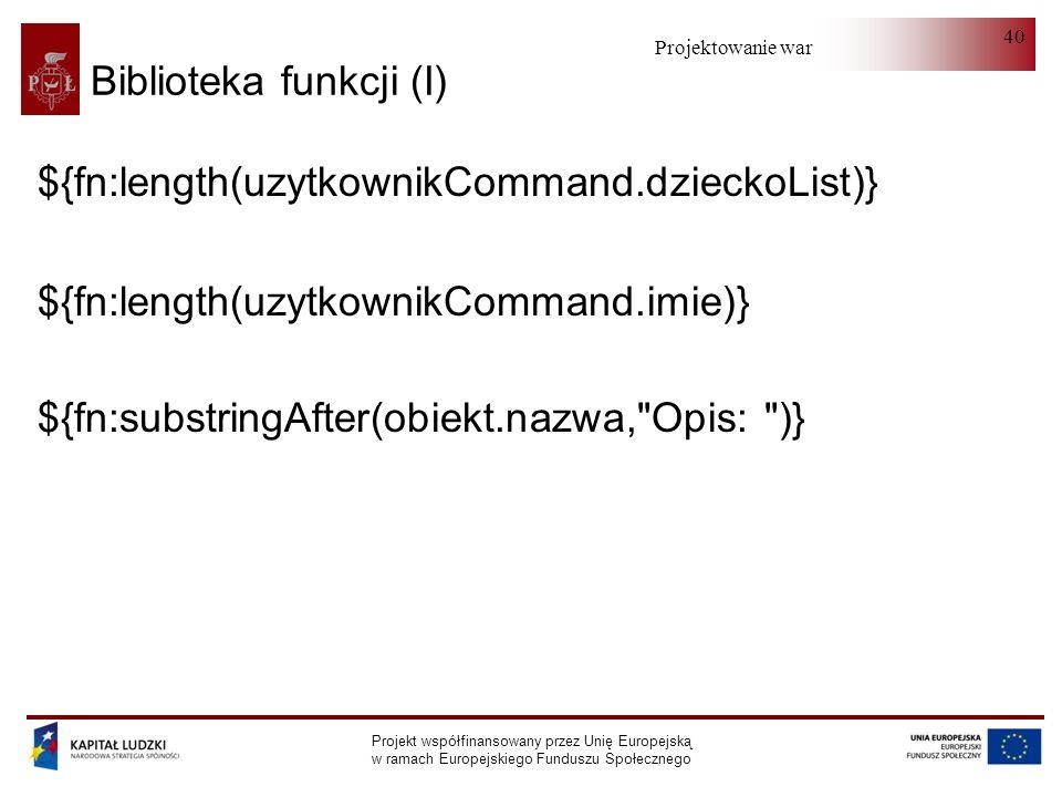 Biblioteka funkcji (I)