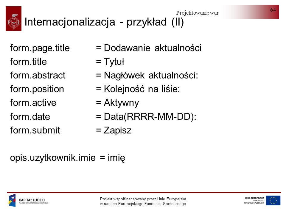 Internacjonalizacja - przykład (II)