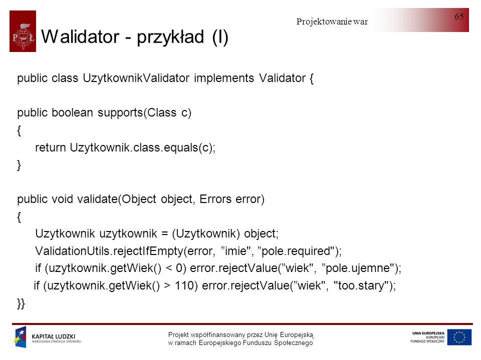 Walidator - przykład (I)