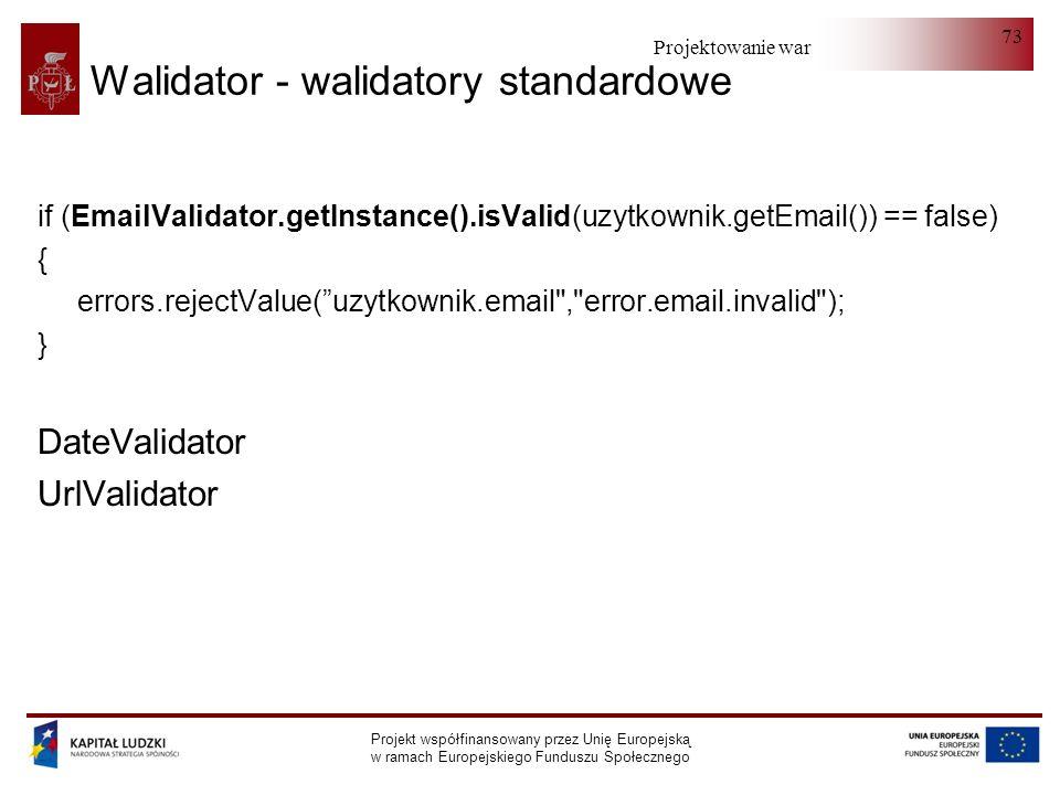 Walidator - walidatory standardowe