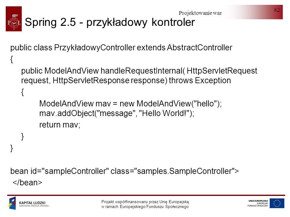 Spring 2.5 - przykładowy kontroler