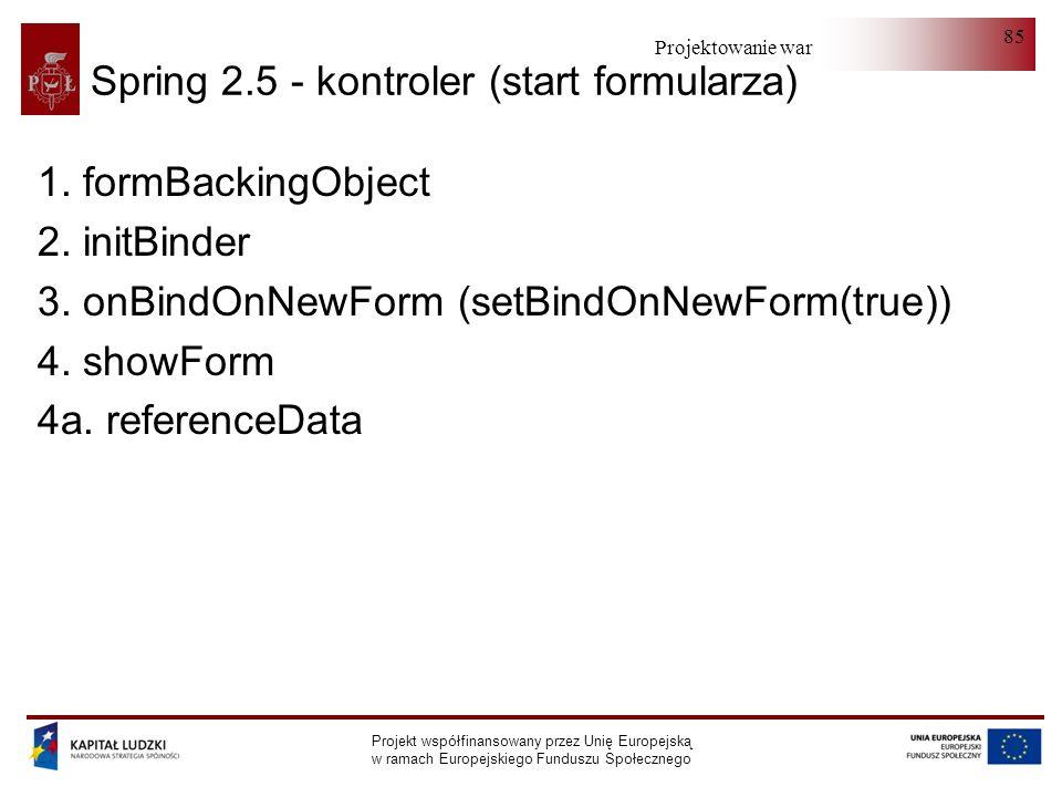 Spring 2.5 - kontroler (start formularza)