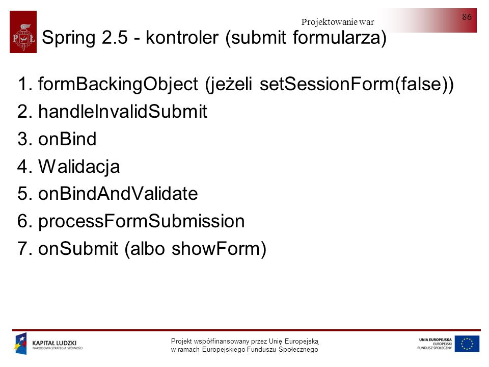 Spring 2.5 - kontroler (submit formularza)
