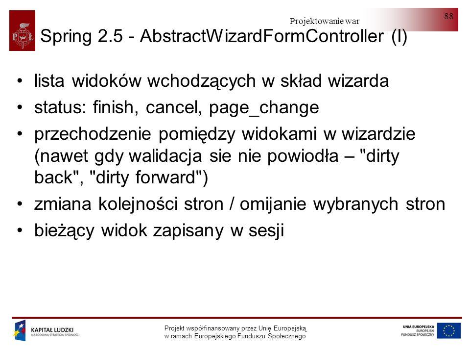 Spring 2.5 - AbstractWizardFormController (I)
