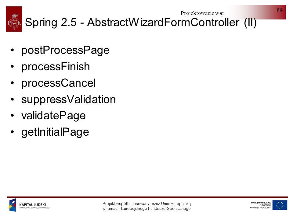Spring 2.5 - AbstractWizardFormController (II)