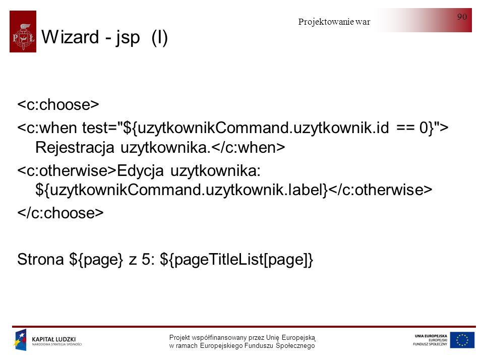 Wizard - jsp (I) <c:choose>