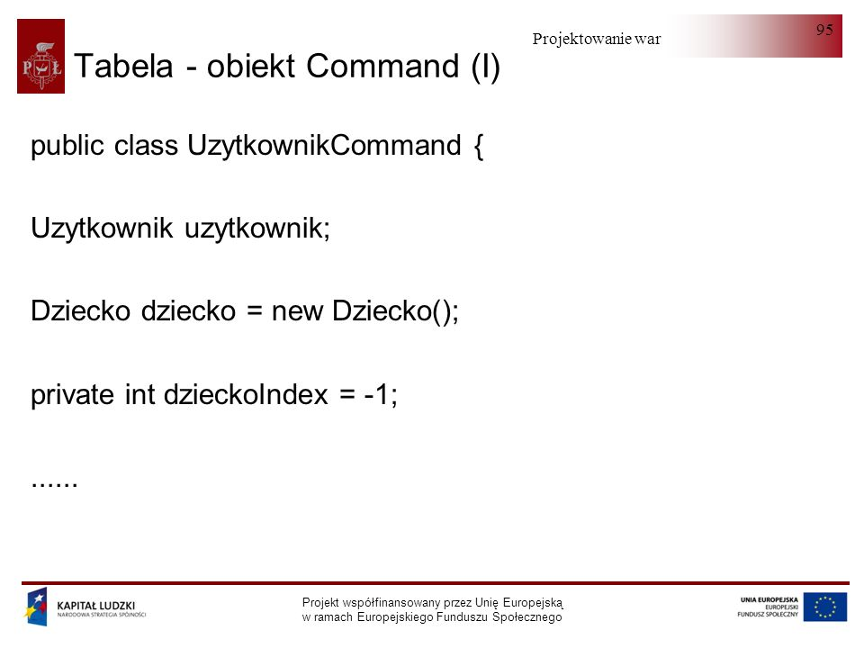 Tabela - obiekt Command (I)