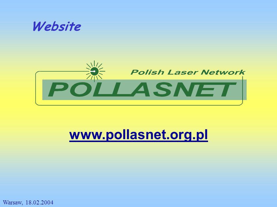 Website www.pollasnet.org.pl Warsaw, 18.02.2004
