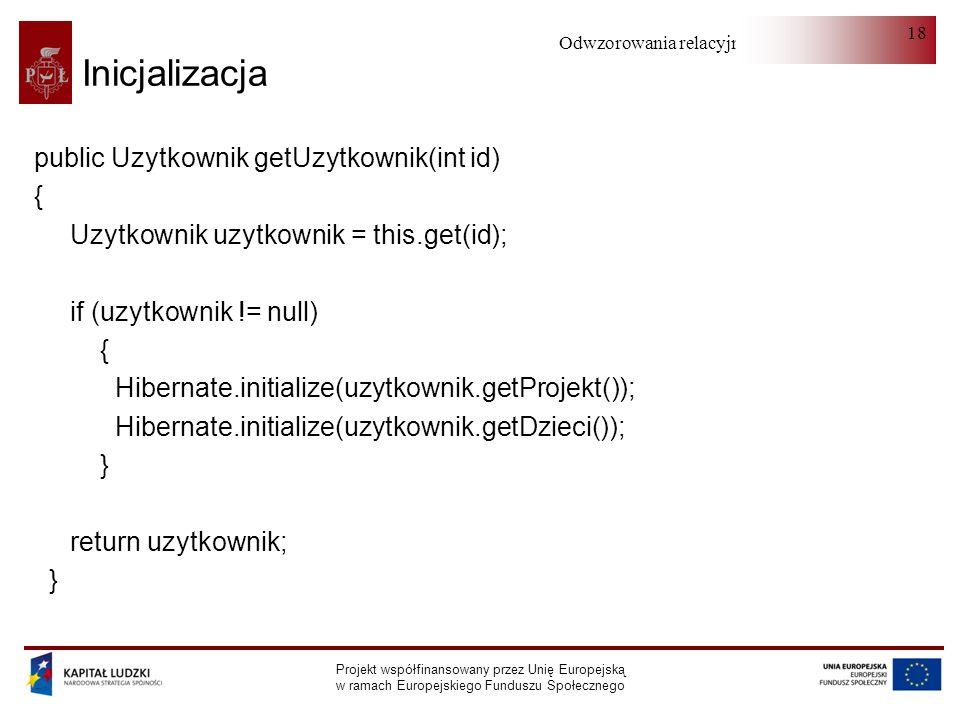 Inicjalizacja public Uzytkownik getUzytkownik(int id) {
