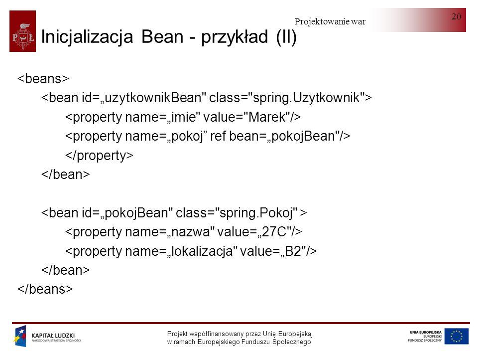 Inicjalizacja Bean - przykład (II)