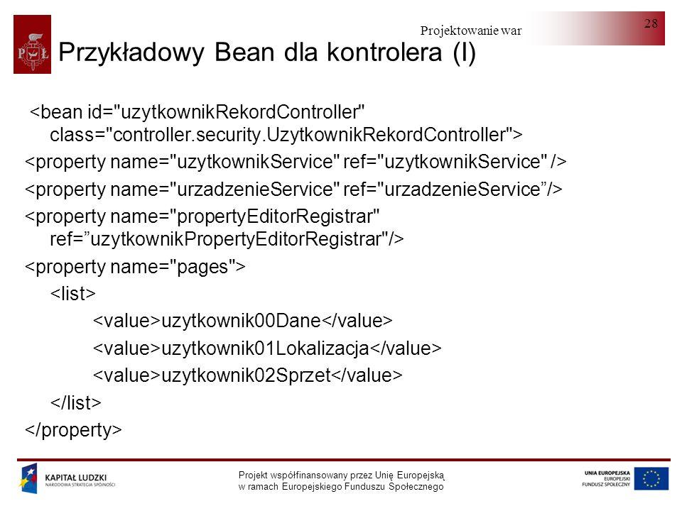 Przykładowy Bean dla kontrolera (I)