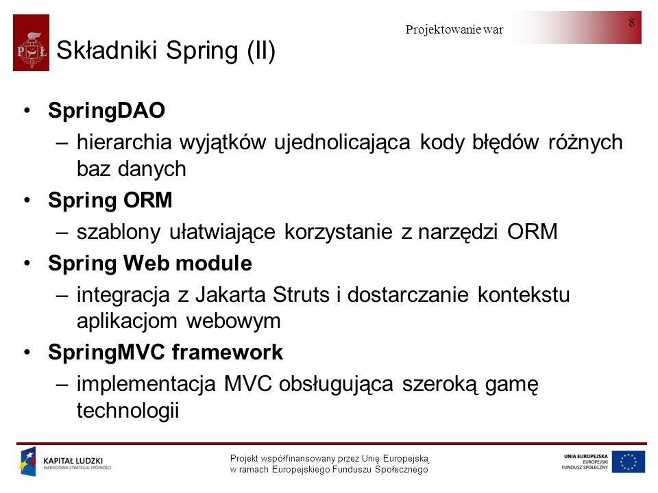 Składniki Spring (II) SpringDAO