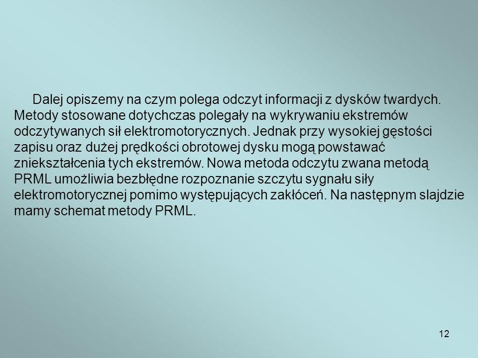 Dalej opiszemy na czym polega odczyt informacji z dysków twardych.
