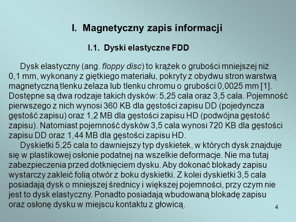 I. Magnetyczny zapis informacji