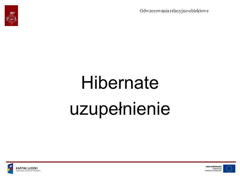 Hibernate uzupełnienie