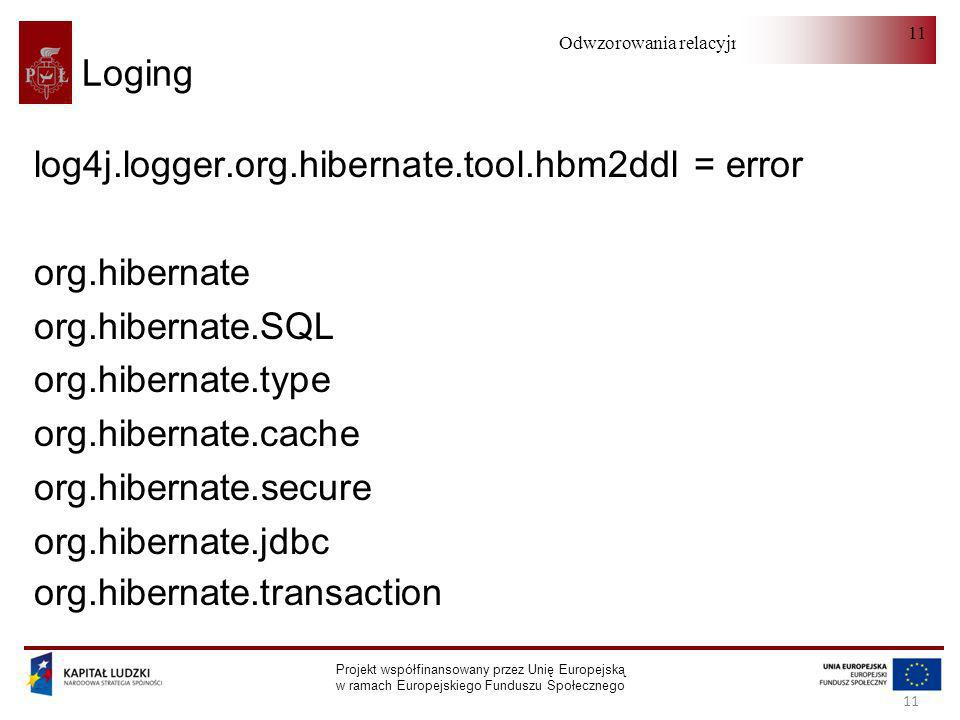 log4j.logger.org.hibernate.tool.hbm2ddl = error org.hibernate