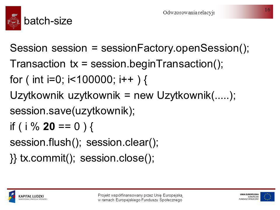 Session session = sessionFactory.openSession();