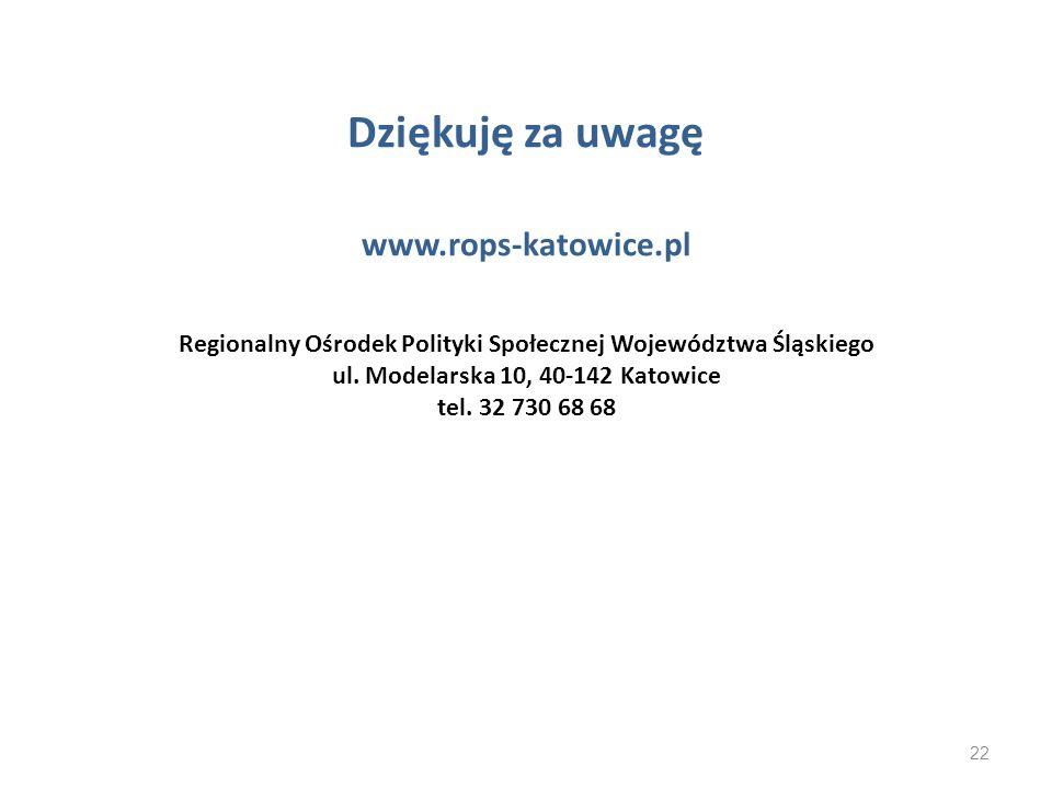 Dziękuję za uwagę www. rops-katowice