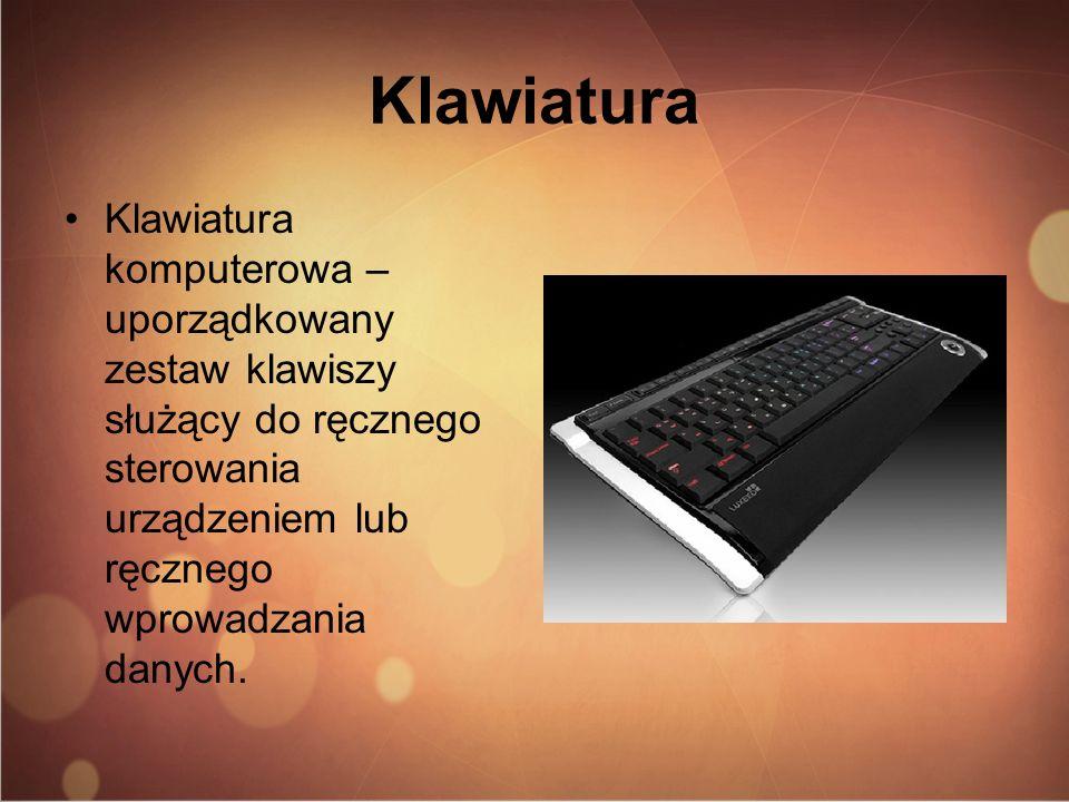 KlawiaturaKlawiatura komputerowa – uporządkowany zestaw klawiszy służący do ręcznego sterowania urządzeniem lub ręcznego wprowadzania danych.