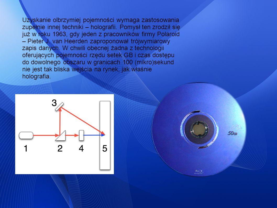 Uzyskanie olbrzymiej pojemności wymaga zastosowania zupełnie innej techniki – holografii.