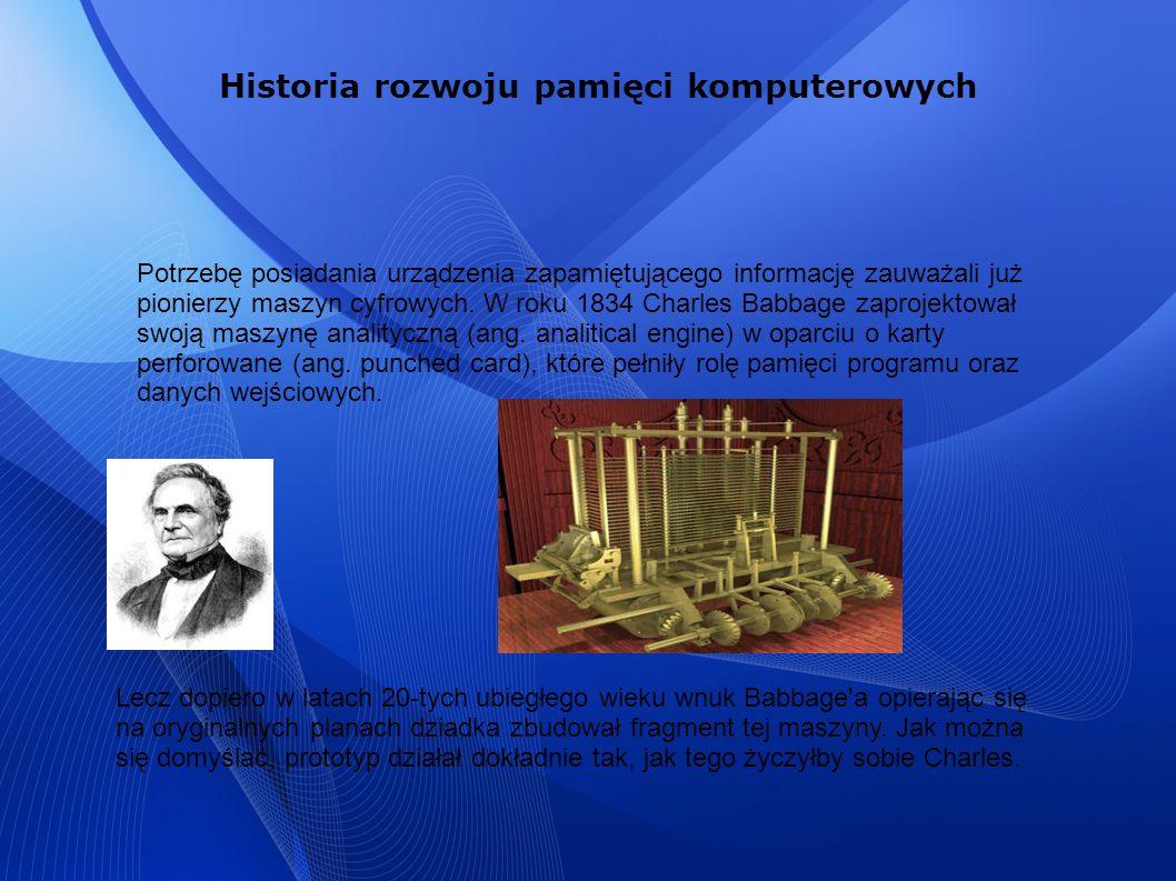 Historia rozwoju pamięci komputerowych