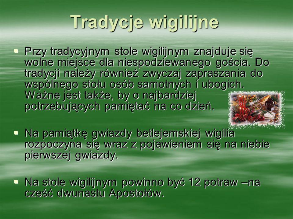 Tradycje wigilijne
