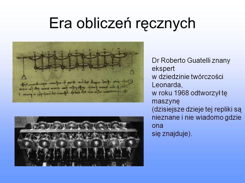 Era obliczeń ręcznych Dr Roberto Guatelli znany ekspert