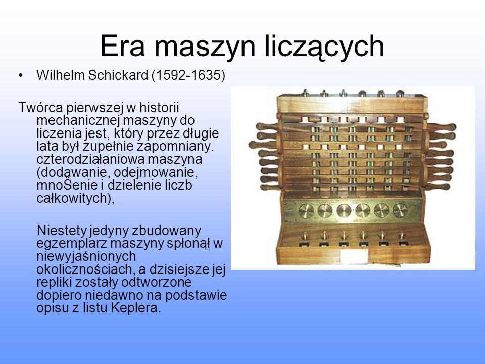 Era maszyn liczących Wilhelm Schickard (1592-1635)