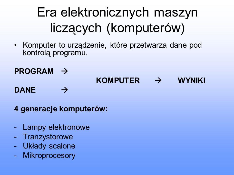 Era elektronicznych maszyn liczących (komputerów)