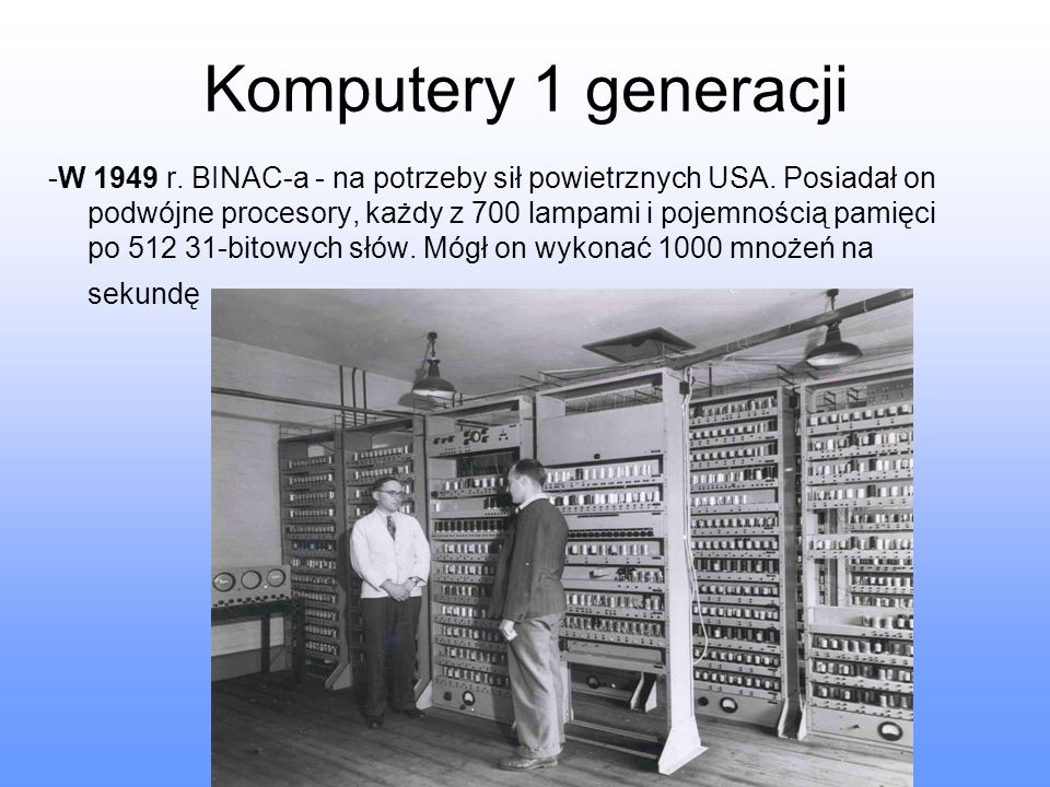 Komputery 1 generacji
