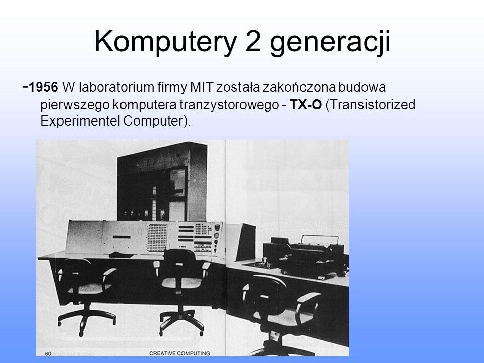 Komputery 2 generacji