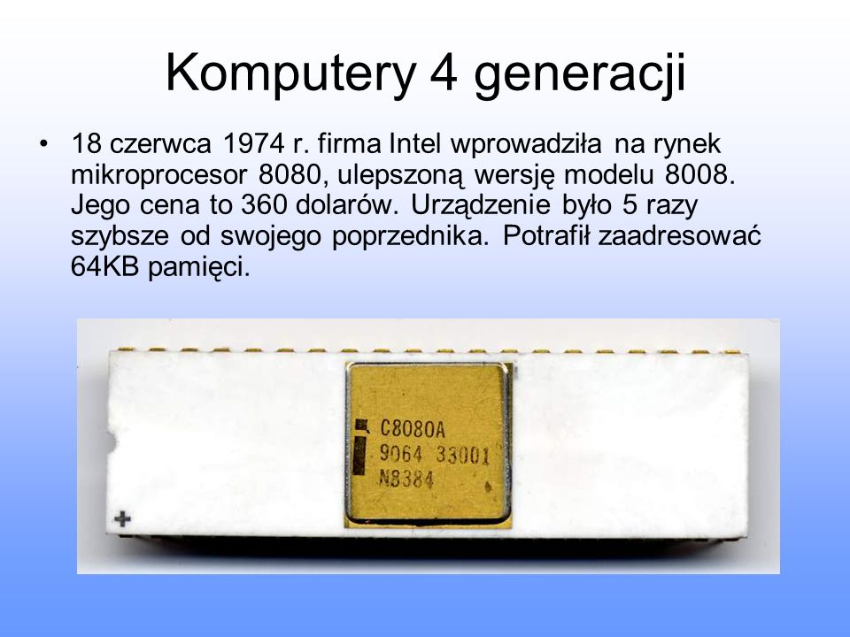 Komputery 4 generacji