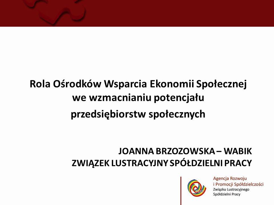 Joanna Brzozowska – Wabik związek lustracyjny spółdzielni pracy