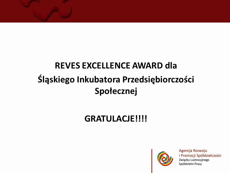REVES EXCELLENCE AWARD dla