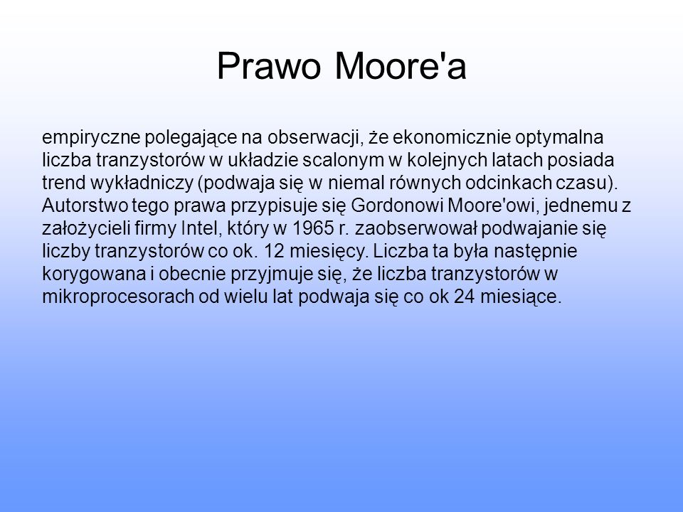 Prawo Moore a